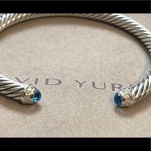 SALE David Yurman Diamond & Topaz 5mm Bracelet